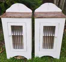 Industrial Shabby Bedside Table Pair Nerang Gold Coast West Preview