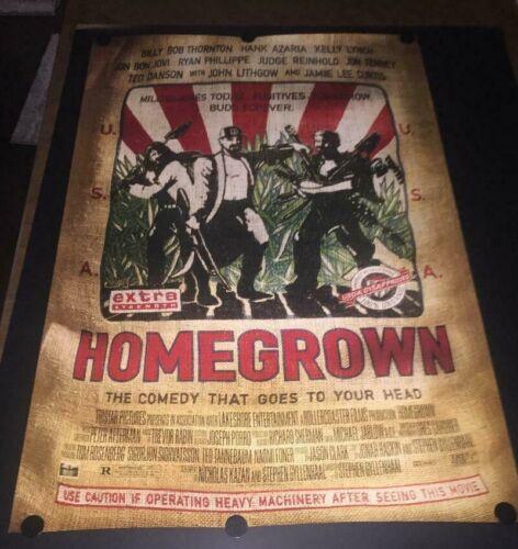 RARE Vintage Homegrown Movie Poster Double Sided Billy Bob Thornton Jon Bonjovi