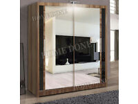 **7-DAY MONEY BACK GUARANTEE!** - Chicago Sliding Door Wardrobe - BRAND NEW! RRP£499