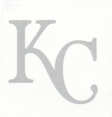 REFLECTIVE Kansas City Royals KC 2 inch fire helmet decal sticker RTIC hard - Kansas City Royals Stickers