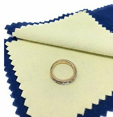 Jewelry Cleaning Polishing Cloth Instant Shine & Protects Gold Silver Brass Jewelry & Watches
