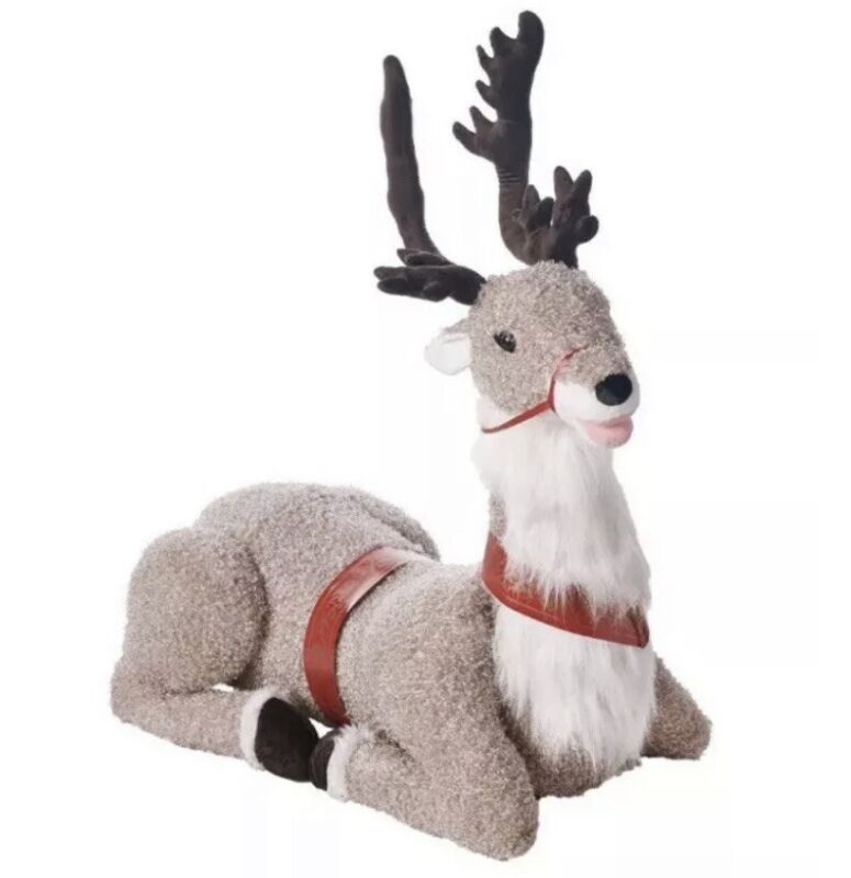 🦌 GEMMY Animated Talking Christmas Reindeer 4.5 feet Height Motion Detector