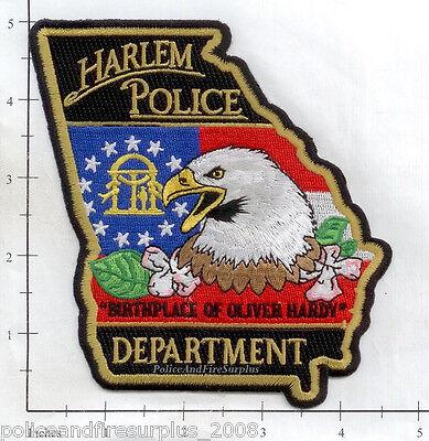 Georgia - Harlem GA Police Dept Patch v2 - Birthplace of Oliver Hardy