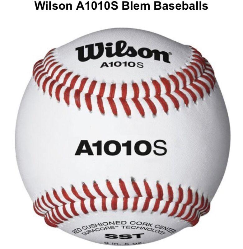 Wilson A1010s Blem Baseballs 12 Ball Pack Professional Quality Baseball, New