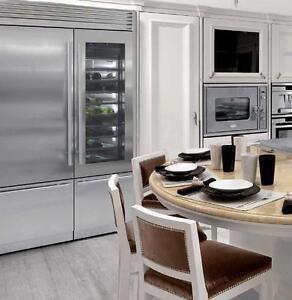 """Fhiaba X-Pro FP30BILS-FP24BWRLGS 54"""" wide 84"""" tall built-in Fridge, Wine, Freezer Combination side by side refrigerator"""