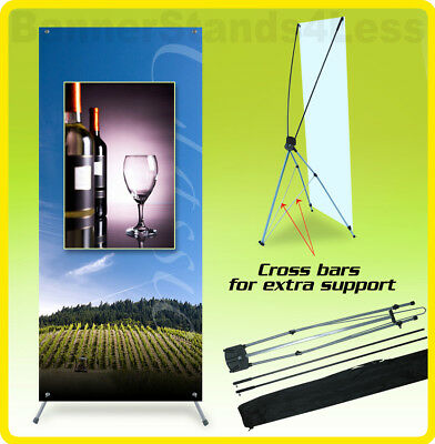 Custom 47x83 Tripod X Banner Stand Trade Show Sign Display With Banner Printing