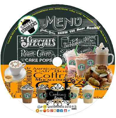Starbucks Cafe Secret Recipes Cook book & More cd drinks baking coffee dessert