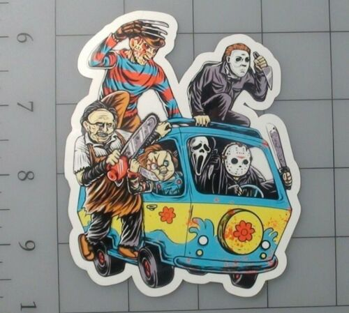 Horror sticker scobby doo jason freddy skate cell laptop bumper decal vinyl