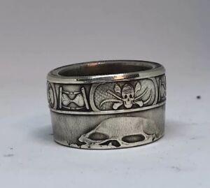Memento Mori 1 oz .999 Silver Coin Ring(size 6-18)