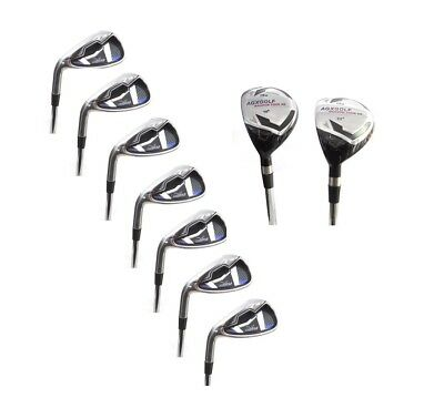 AGX GRAPHITE LADIES LEFT HAND XS-L IRON SET 4 & 5HY+6,7,8 & 9+WEDGES ALL LENGTHS ()
