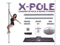 Static fitness x-pole