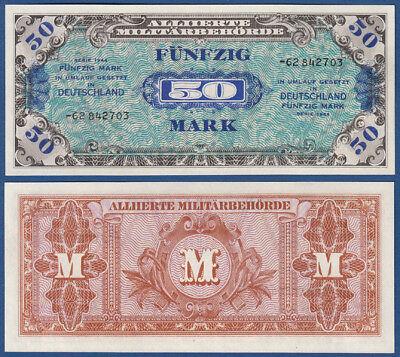 Alliierte Militärbehörde 50 Mark 1944 KASSENFRISCH / UNC  Ro.205 d / P.196d