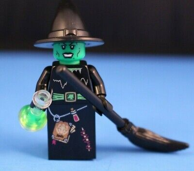 LEGO® Minifigures™ Green Wicked Witch with black broom +potion Halloween special