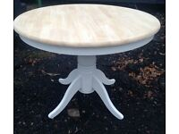 Solid wooden Round Pedestal Dinning table Farmhouse/upcycled
