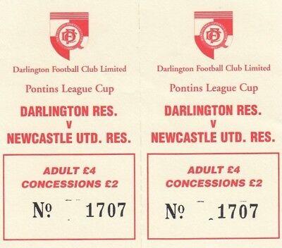Ticket - Darlington Reserves v Newcastle United Reserves (Undated)