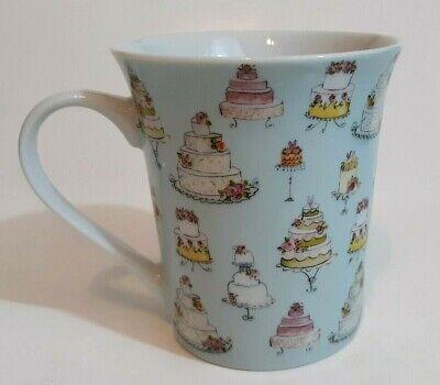 - Zrike Everyday Wedding Cake Coffee Mug Blue Holds 12 Ounces EUC