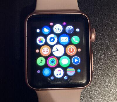 Apple Watch Series 1 38mm Rose Gold Aluminium Case Pink Sand Sport Band