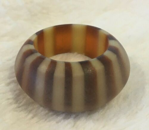 Lucite Matte Finish Butterscotch Ring Size 5 1/2