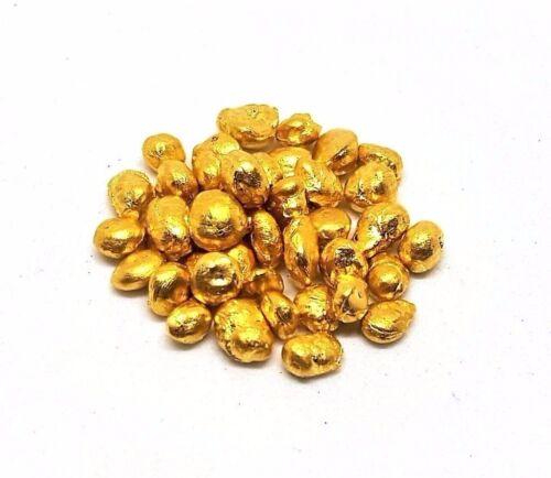 10 Grams .999 Fine 24k Gold Shot - (10) 1 Gram Bags - Grimm Metals