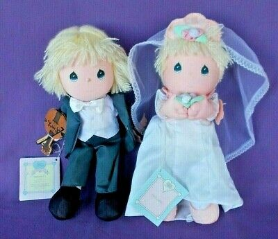 PAIR OF PRECIOUS MOMENTS APPLAUSE DOLLS - BEST WISHES & HAPPY