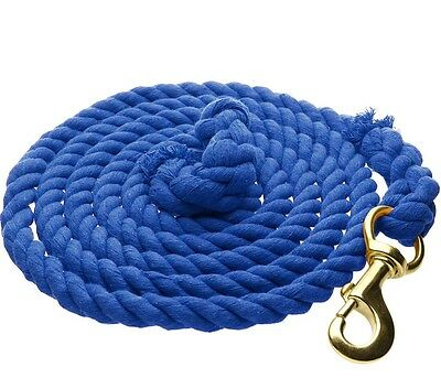 "WEAVER COTTON LEAD Soft Cotton 5/8"" Rope Length 10ft. Blue"