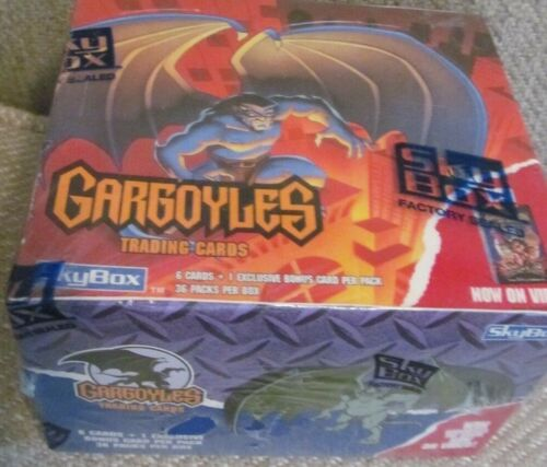 1995 Factory Sealed*Disney GARGOYLES Collector Card Box & 36 Packs!