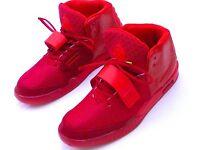 NIKE YEEZY RED II 2 RED OCTOBER SNEAKERS TRAINERS UK 10 EU 45