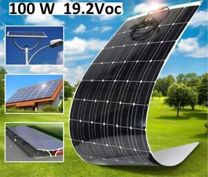 NEW SOLAR PANEL SEMI-FLEXIBLE 100W 207633494 RV BOAT OFF-GRID BATTERY CHARGE
