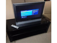 """Modern TV, Hi-Fi unit, cabinet in High Black Gloss and Free 26"""" Panasonic TV with remote."""