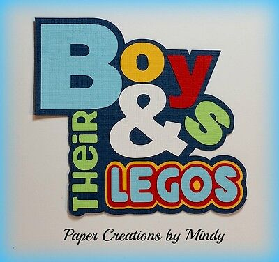 Craftecafe Mindy Boys Toys Legos Title  premade paper piecing scrapbook page