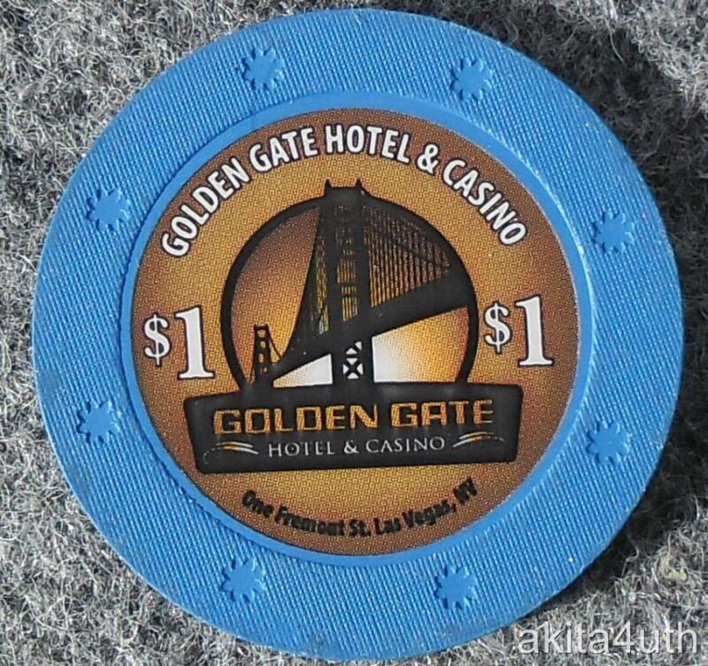 $1 Golden Gate - Las Vegas, Nevada House Chip - Free Shipping