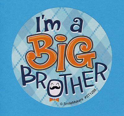 Big Brother Sticker - 10 I'm a Big Brother Large Stickers - Party Favors - Rewards