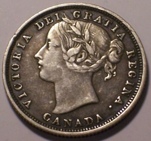 Canada, 1858 Victoria Twenty Cents, 20 Cents. 730,392 Mintage.