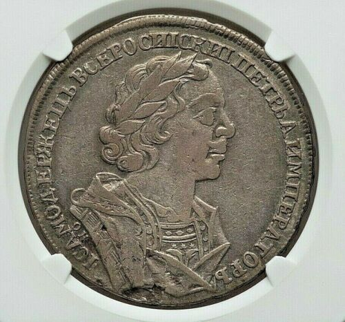 1725 ОК RUSSIA PETER I (THE GREAT) SILVER RUBLE NGC VF-30 L@@K