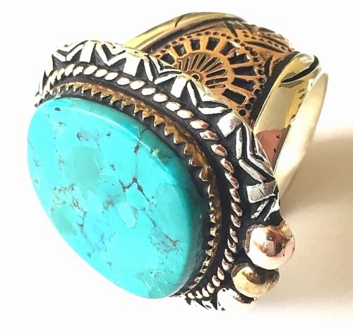 1930s 40s 50s 60s Native American Turquoise Indian Ring Vintage Southwestern