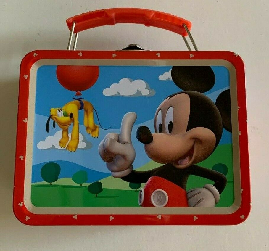 Children's Metal Tin Lunch Box Carry All Storage Gift Bag Ca