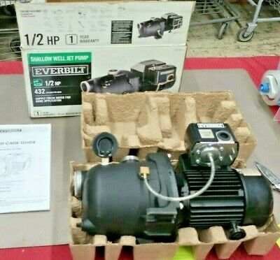 Everbilt 12 Hp Shallow Well Jet Water Pump J100a3 Industrial Mechanical -d17