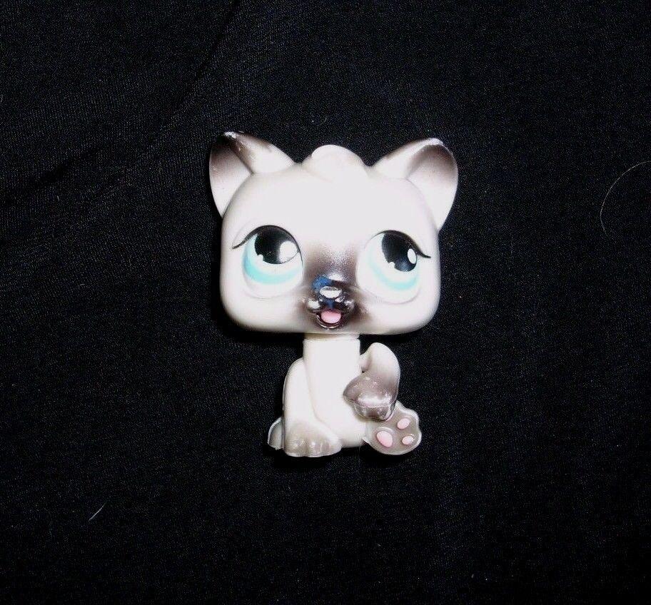 180 LITTLEST PET SHOP 2005 MAGIC MOTION SIAMESE KITTY CAT BLUE EYES TONGUE LICKS