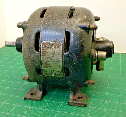 Antique Original GE Open Face Electric Motor 120V AC 1/6HP WORKS! - Gorgeous