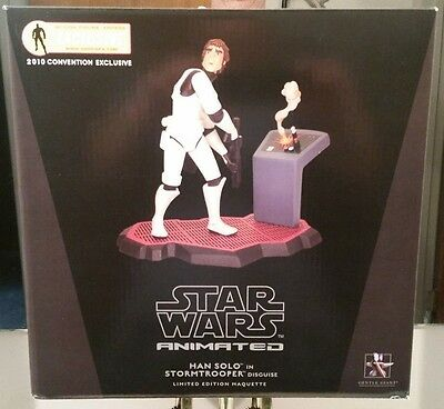 STAR WARS ANIMATED HAN SOLO IN STORMTROOPER DISGUISE MAQUETTE 2010 AFX EXCLUSIVE