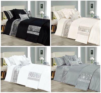 Sequin Quilt Duvet Cover Set Sequence Bedding Double King Super King, Bed (Double Bed Quilt Cover)