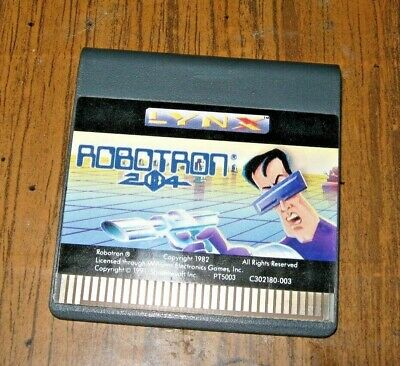 "ATARI LYNX GAME "" ROBOTRON "" CLEANED AND POLISHED CONTACTS"