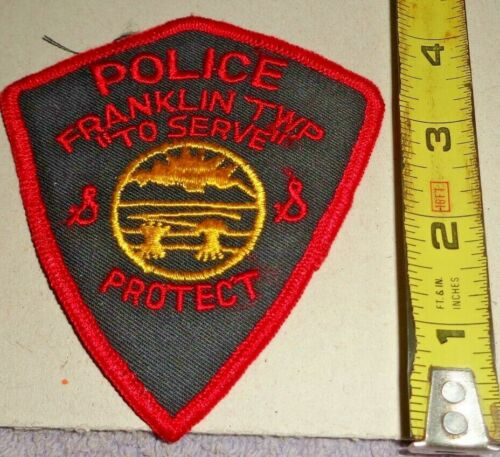VINTAGE COLLECTIBLE FRANKLIN TWP OHIO POLICE SEW ON PATCH