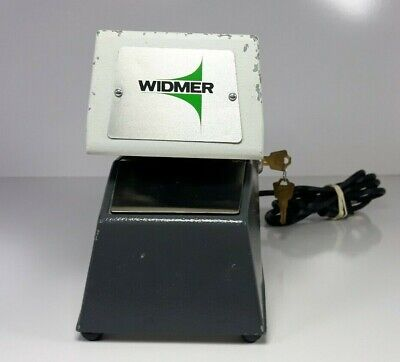 Widmer Time Recorder D-3 D3 With Keys Needs Year Wheel Replaced