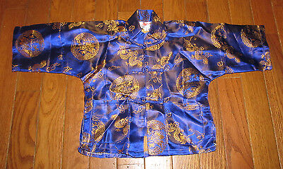 Toddler Size 2T Chinese Asian Golden Dragon Shirt Pajamas Pjs Halloween (Asian Dragon Kostüm)