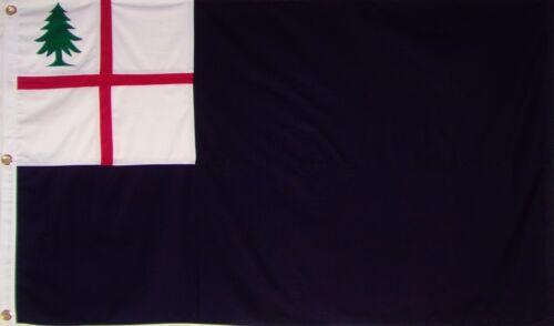 HEAVY DUTY SEWN COTTON BUNKER HILL FLAG - AMERICAN REVOLUTION - NEW ENGLAND
