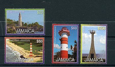 Jamaica 2015 MNH Lighthouses R/P 4v Set Galina Negril Lighthouse Stamps