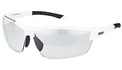 NEU! UVEX sportstyle 612 VL Sonnen Brille Weiß selbsttönend UVP: 89,95 EUR