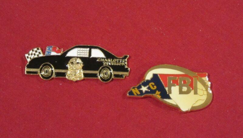 FBI Charlotte, N.C. Field Office two lapel pin set