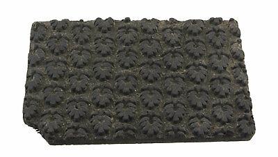 Bunta Stamped Wood Printing Textile Batik 19cm Antique Rajasthan India 7246